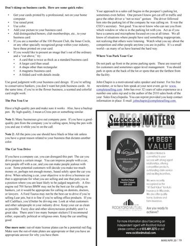 Page 19 of Business Etiquette for Agents