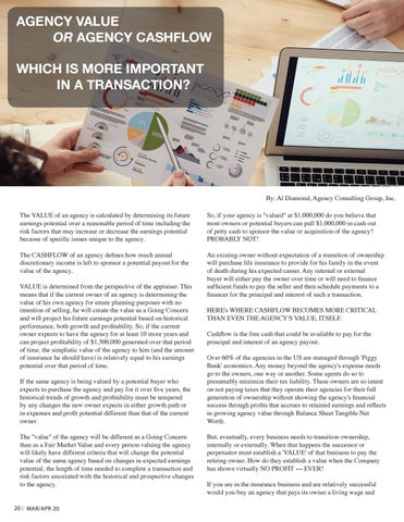 Page 20 of Agency Value or Agency Cashflow Which is More Important?