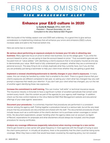 Page 22 of Enhance Your E&O Culture in 2020