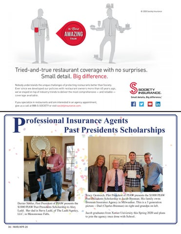 Page 36 of PIAW Past Presidents Scholarships Awarded