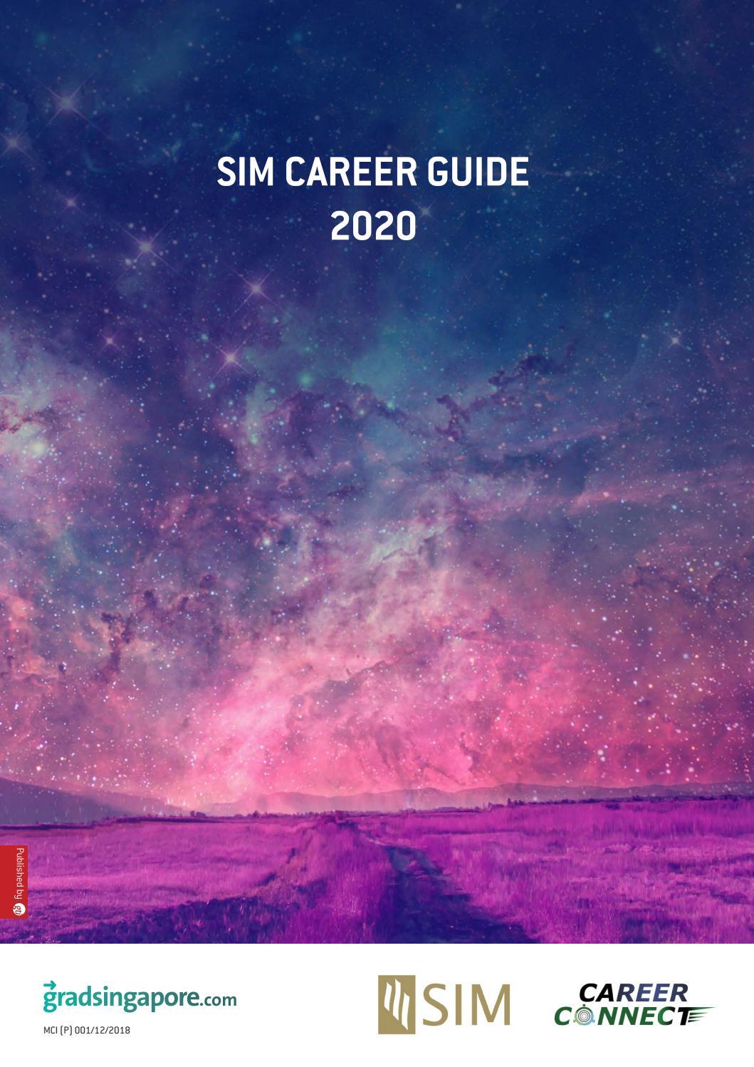 Sim Career Guide 2020 By Gti Media Asia Issuu