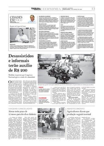 Page 13 of Desassistidos e informais terão auxílio de R$ 200 por três meses