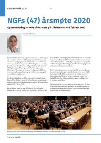 Page 10 of NGFs (47) årsmøte 2020 – Oppsummering av NGFs vintermøte på Lillehammer 6-8 februar 2020