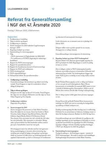 Page 12 of Referat fra Generalforsamling i NGF det 47. Årsmøte 2020