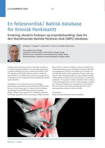 Page 30 of En fellesnordisk/ Baltisk database forKronisk Pankreatitt