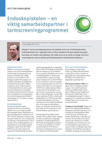Page 34 of Endoskopiskolen – en viktig samarbeidspartner i tarmscreeningprogrammet