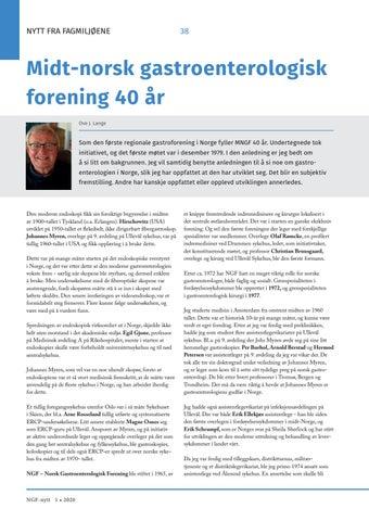 Page 38 of Midt-norsk gastroenterologisk forening 40 år