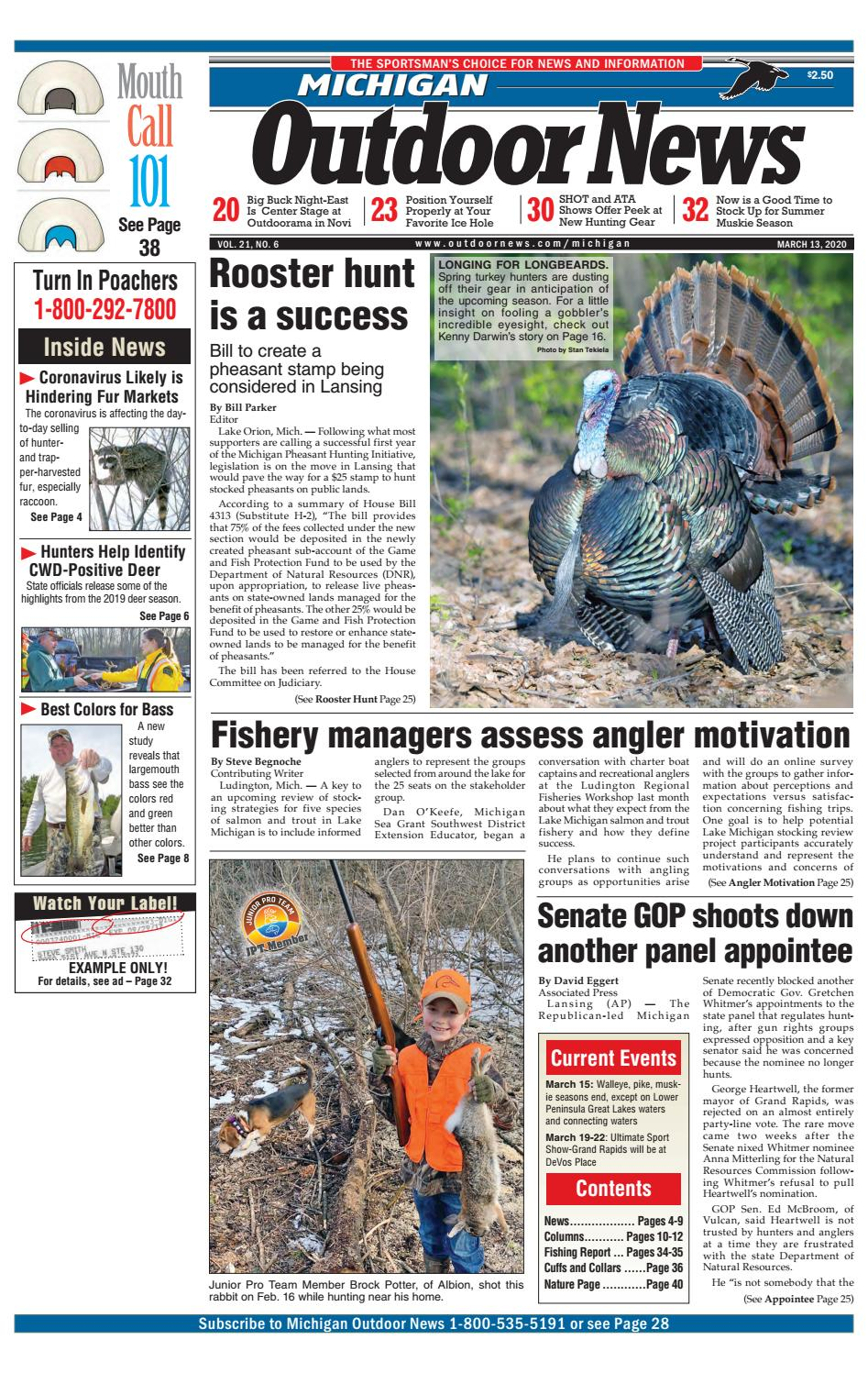 Michigan Outdoor News Issue 6 2020 By Outdoor News Issuu