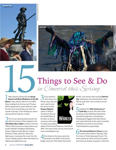Page 10 of 15 Things to See & Do in Concord This Spring