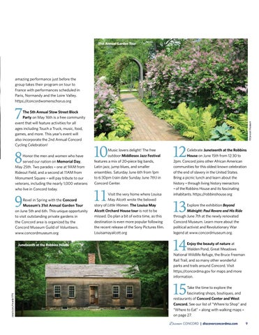 Page 11 of 15 Things to See & Do in Concord This Spring