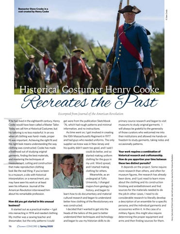 Page 18 of Historical Costumer Henry Cooke Recreates the Past