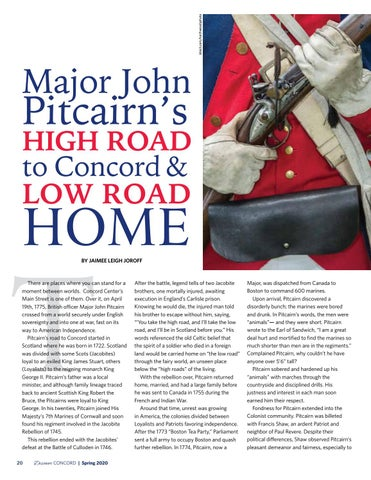 Page 22 of Major John Pitcairn's High Road to Concord & Low Road Home