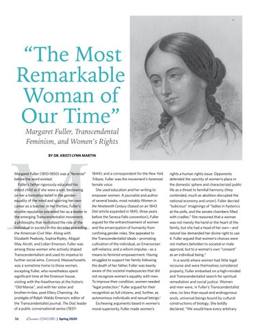 """Page 38 of """"The Most Remarkable Woman of Our Time"""" Margaret Fuller, Transcendental Feminism, and Women's Rights"""