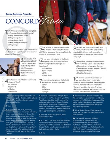 Page 44 of Concord Trivia presented by Barrow Bookstore