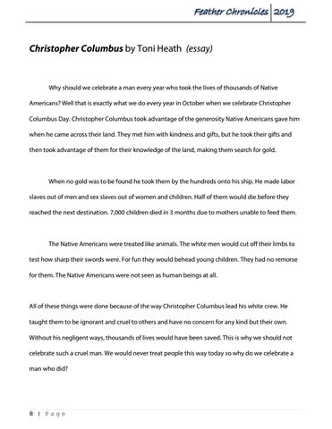Page 8 of Essayby Toni HeathChristopher Columbus