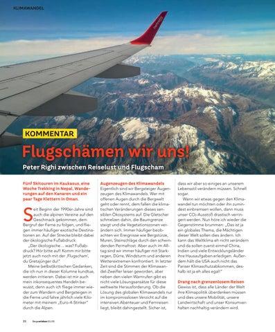 Page 22 of Kommentar: Flugschämen wir uns