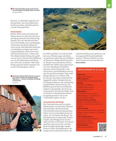 Page 33 of AVS Hüttenserie: Tiefrastenhütte