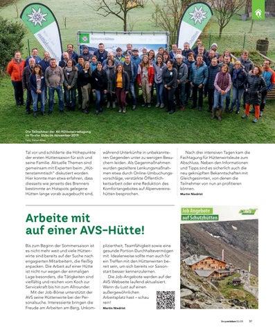 Page 37 of Jobs auf Alpenvereinshütten