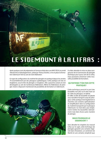 Page 14 of Le Sidemount à la Lifras