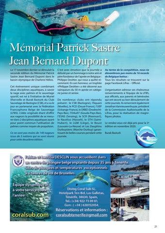 Page 21 of Mémorial Patrick Sastre, Jean Bernard