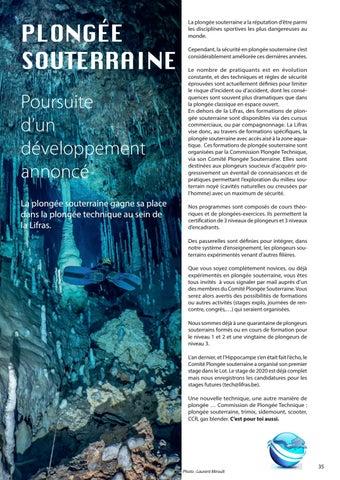Page 35 of Plongée souterraine