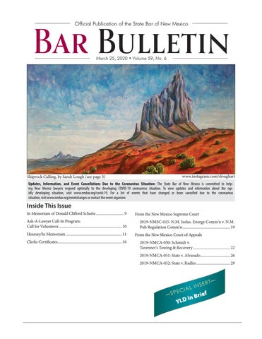 Bb 3 25 20 By State Bar Of New Mexico Issuu