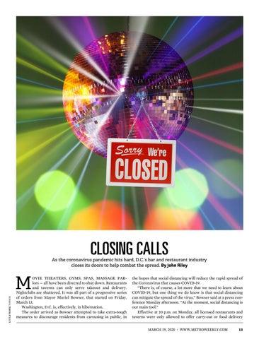 Page 13 of Metro Weekly: Closing Calls