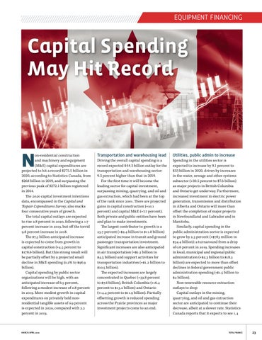Page 23 of Capital Spending May Hit Record