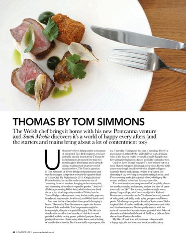 Page 48 of RESTAURANT Our reviewer visits Tom Simmons' new Pontcanna venture