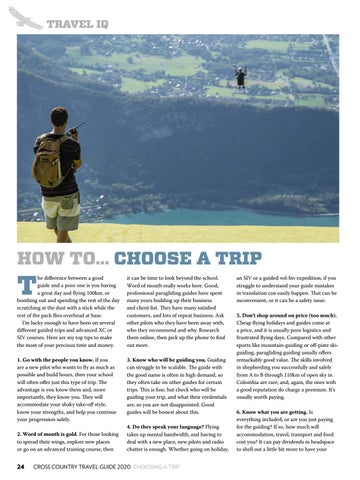 Page 24 of HOW TO… CHOOSE A TRIP