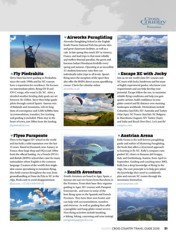 Page 31 of PARAGLIDING GUIDES