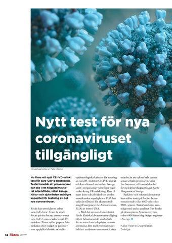 Page 52 of Nytt test för nya coronaviruset tillgängligt