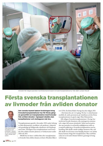 Page 28 of Första svenska transplantationen av livmoder från avliden donator
