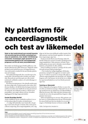 Page 49 of Ny plattform för cancerdiagnostik och test av läkemedel