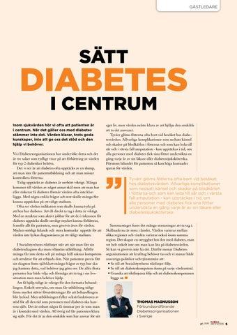 Page 5 of Sätt diabetes i centrum