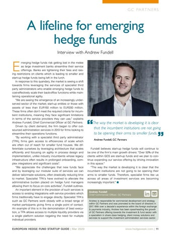 Page 11 of A LIFELINE FOR EMERGING HEDGE FUNDS