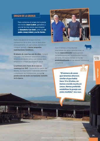 Page 73 of Ganadería Can Solei: tradición, bienestar animal y calidad de leche