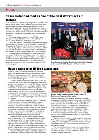 Page 10 of Tesco Ireland named as one of the Best Workplaces in Ireland; Have a Gander at NI food waste app