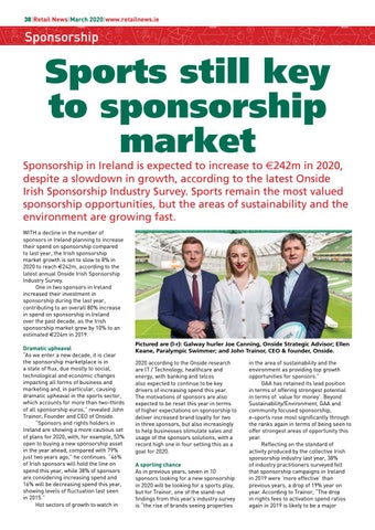 Page 40 of Sponsorship in Ireland is expected to increase to 242m in 2020