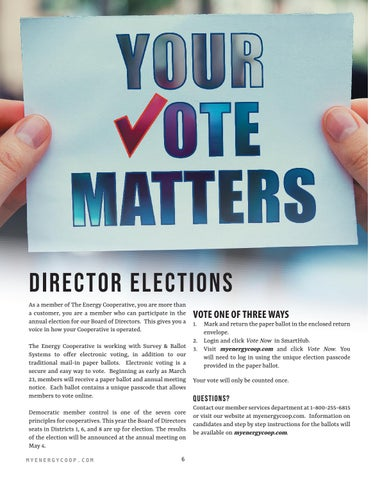 Page 6 of Director Elections