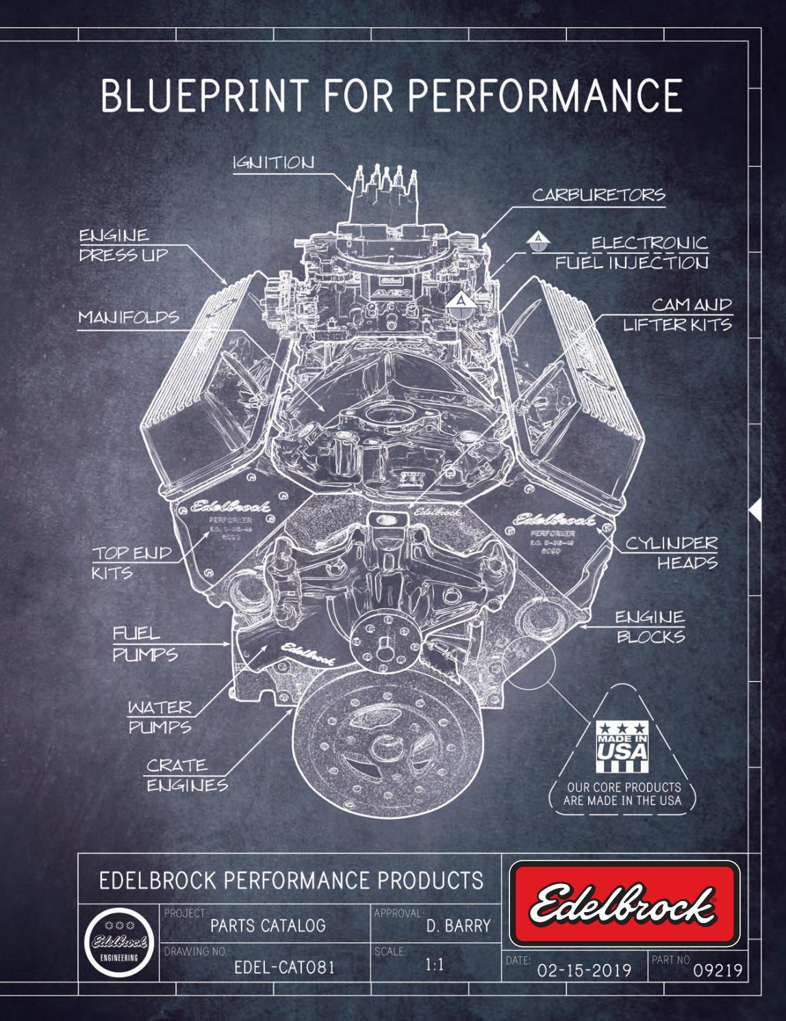 Edelbrock 61775 Performer RPM Cylinder Head Chamber Size 58cc Complete Single 2.02 in Int.//1.6 in