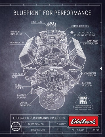 350-403 Performance Parts and Accessories Underhood Edelbrock 2812 Olds Victor Manifold