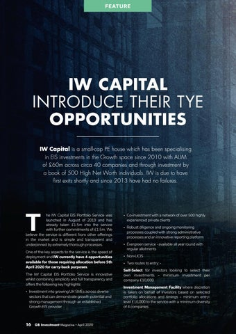 Page 16 of IW CAPITAL INTRODUCE THEIR TYE OPPORTUNITIES