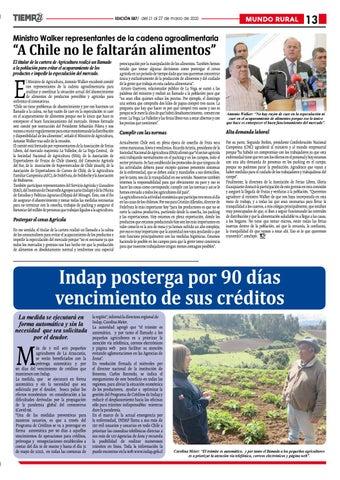 Page 13 of Solicitan a Subdere postergar pago de