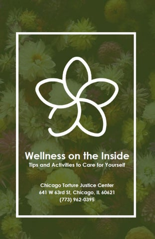 Page 1 of Wellness on the Inside: Tips and Activities to Take Care of Yourself