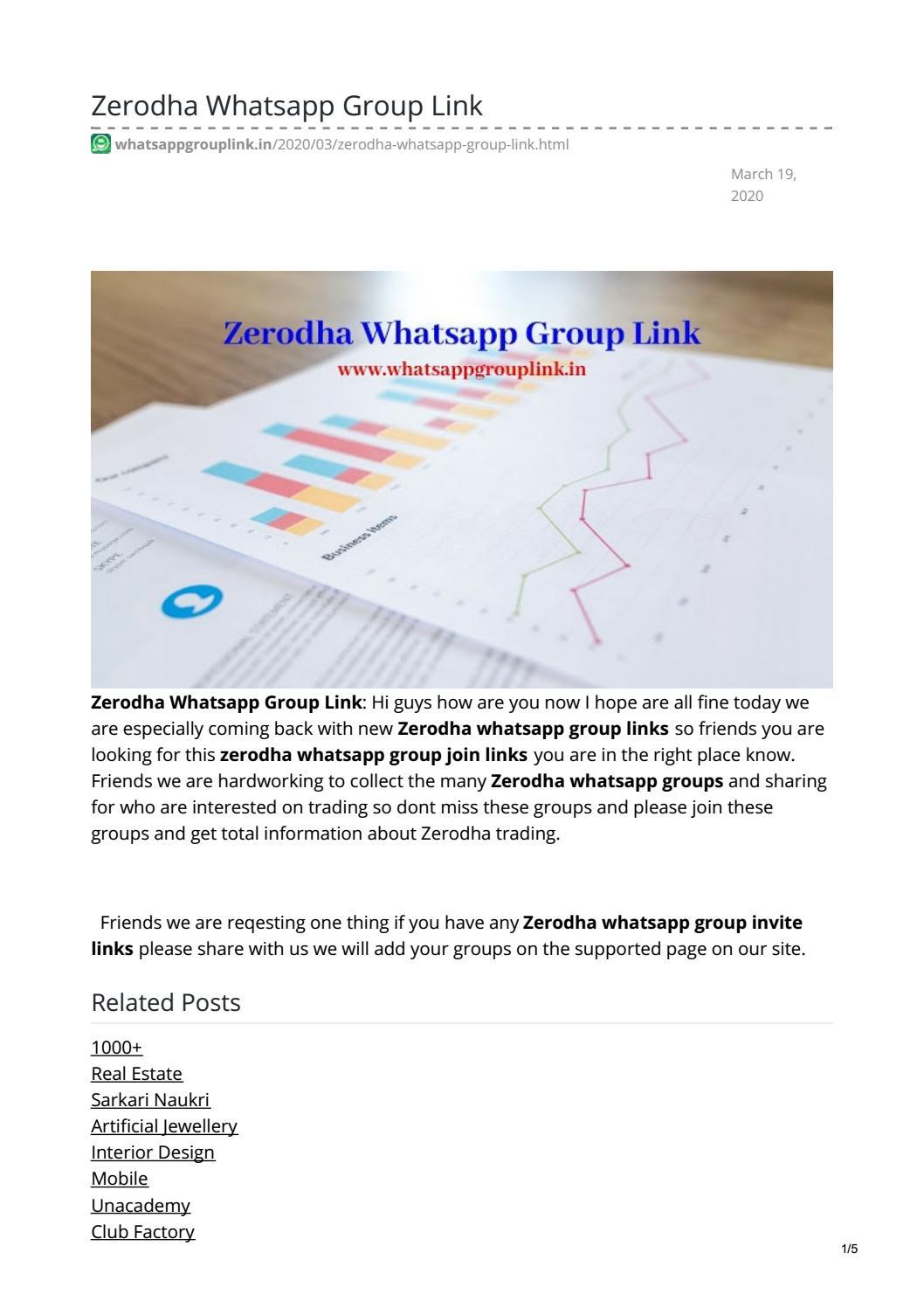 Zerodha Whatsapp Group Link By Telugukavithalu Issuu