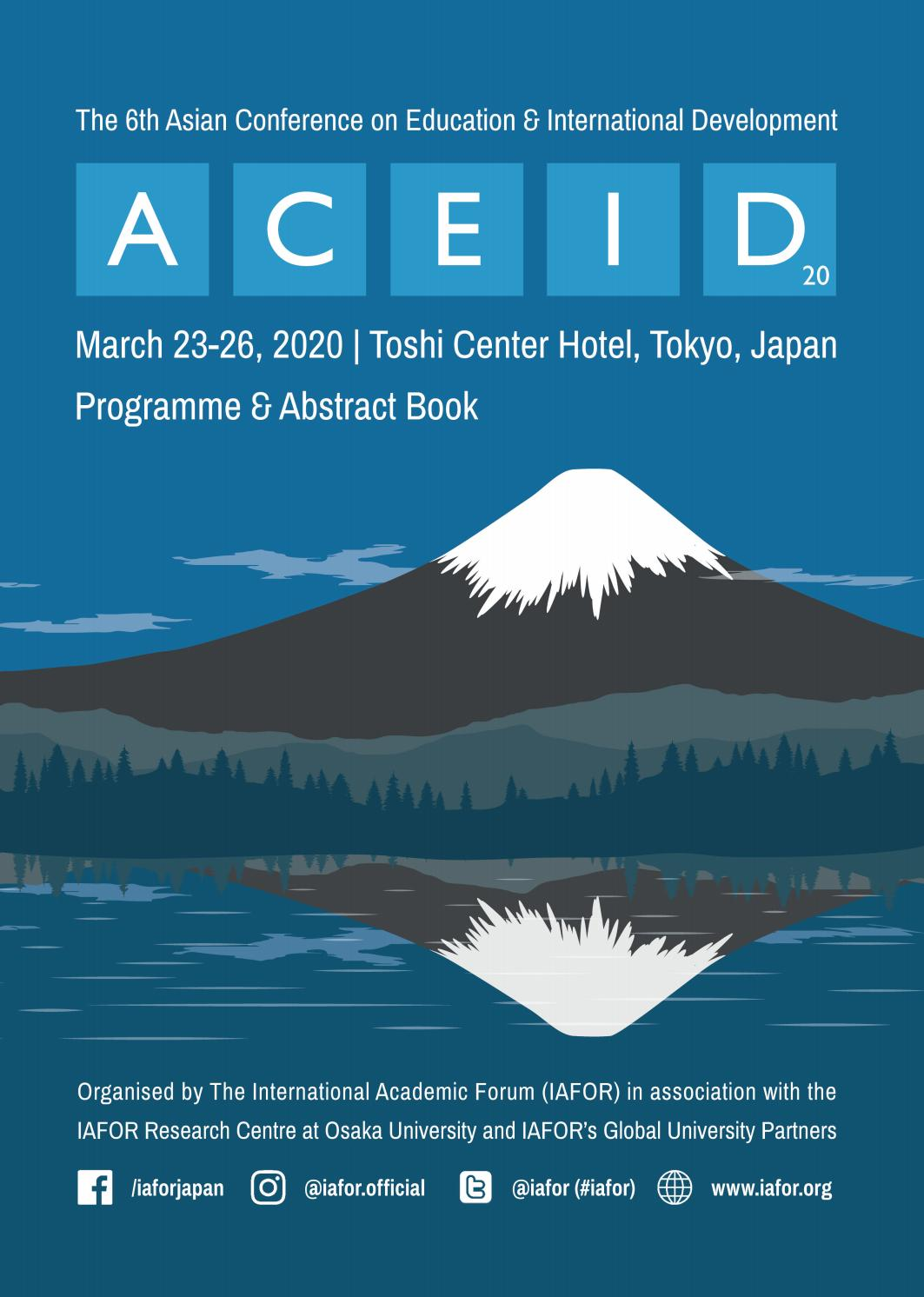 Aceid2020 Official Conference Programme Abstract Book By Iafor