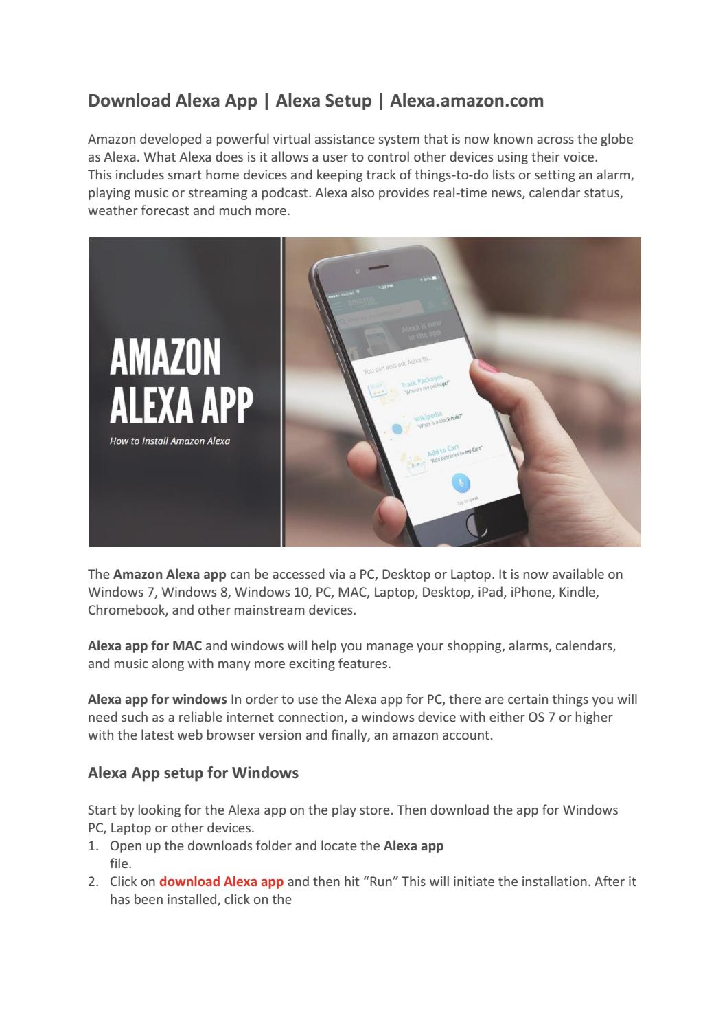 Pair Alexa To Mac