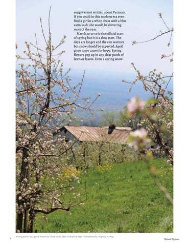 Page 10 of From This Side of the Mountain How Do We Know It's Spring? Cassie Horner