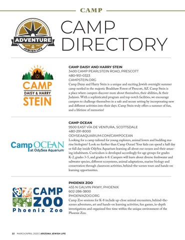 Page 22 of Camp Directory